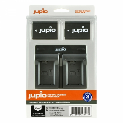Jupio Sony Value Pack 2x NPFW50 1080 m..